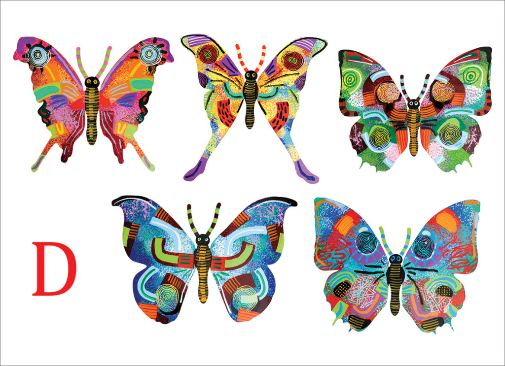 David Gerstein Sticky butterflies collection - new arrival at GersteinART