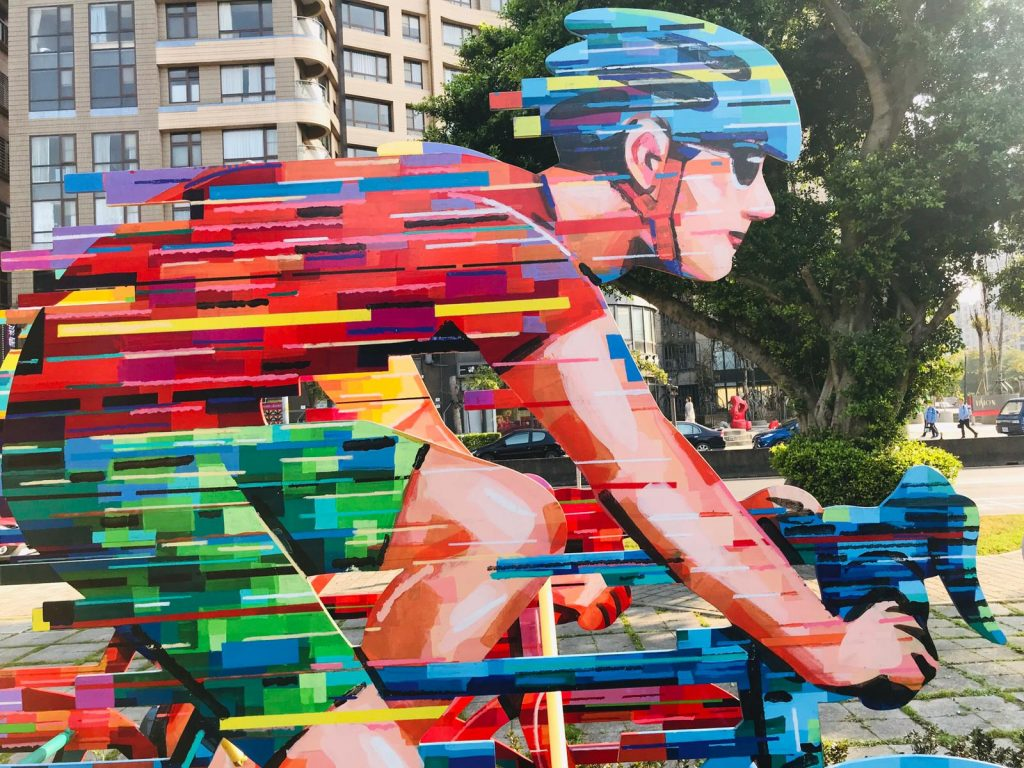 Taiwan outdoor sculptures by David Gerstein