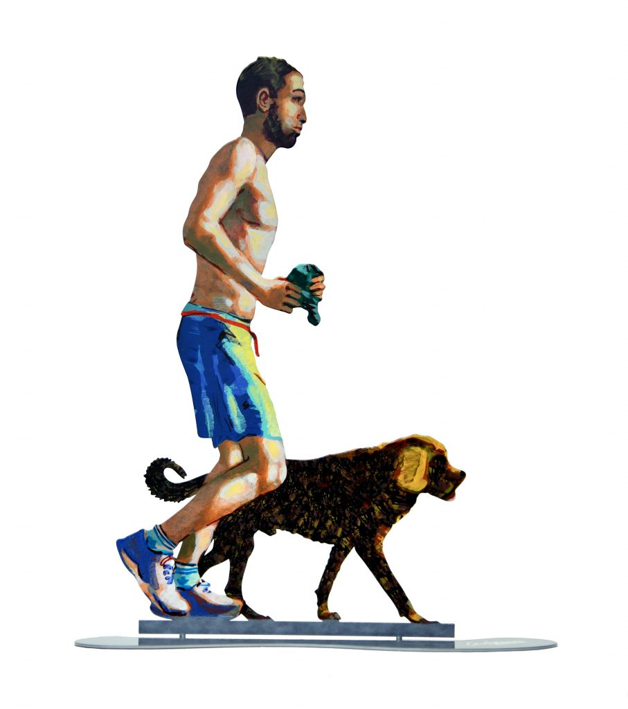 Jogger With Dog by David Gerstein